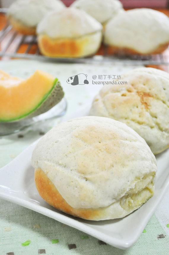 哈密瓜麵包【真的有哈密瓜唷】Melon Pan