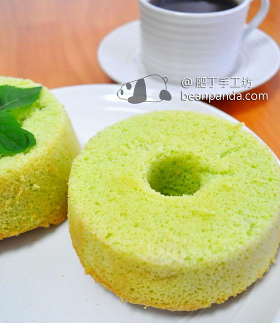 椰絲班蘭戚風蛋糕【無油、低糖、無色素】Pandan Chiffon Cake