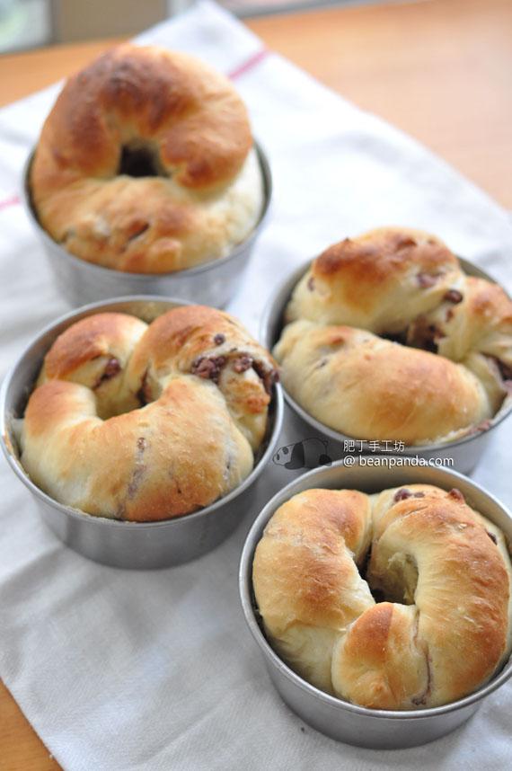 紅豆椰絲麵包【神奇的湯種 / 麵包機適用】Red Bean Coconut Bread