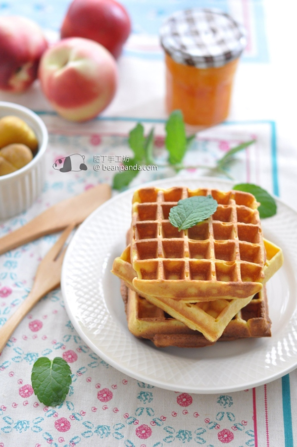 南瓜窩夫【鬆軟可口 / 無泡打粉】Pumpkin Waffle