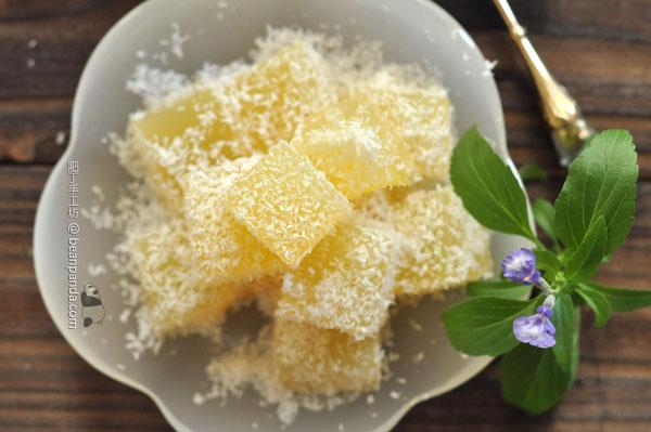椰絲菠蘿大菜糕【清涼爽滑】Pineapple Agar Agar