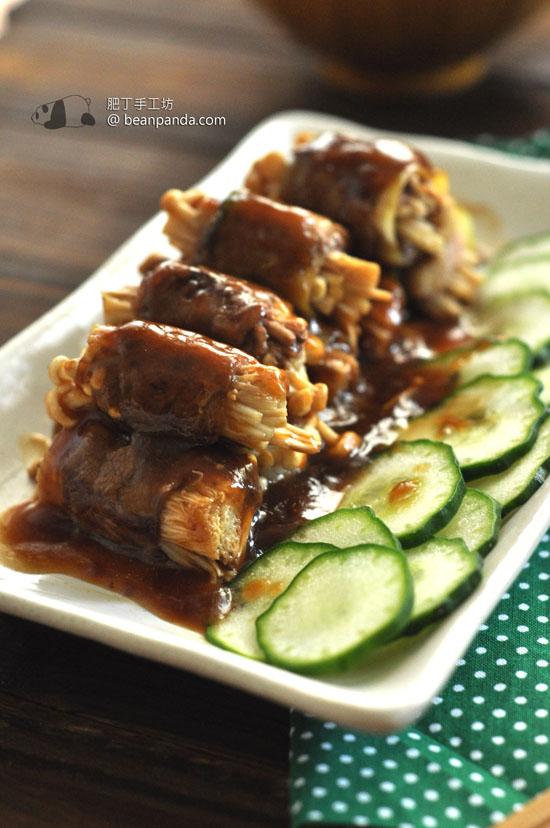 金菇肥牛青瓜卷【日式料理】Sliced Beef with Enoki Mushrooms