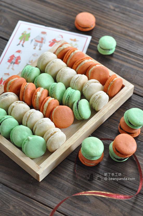 聖誕馬卡龍【暖暖薑糖 / 薄荷朱古力 (法式蛋白霜)】Christmas Macaron