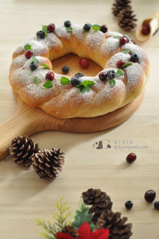 辮子花環麵包【溫馨聖誕】Christmas Pigtail Bread