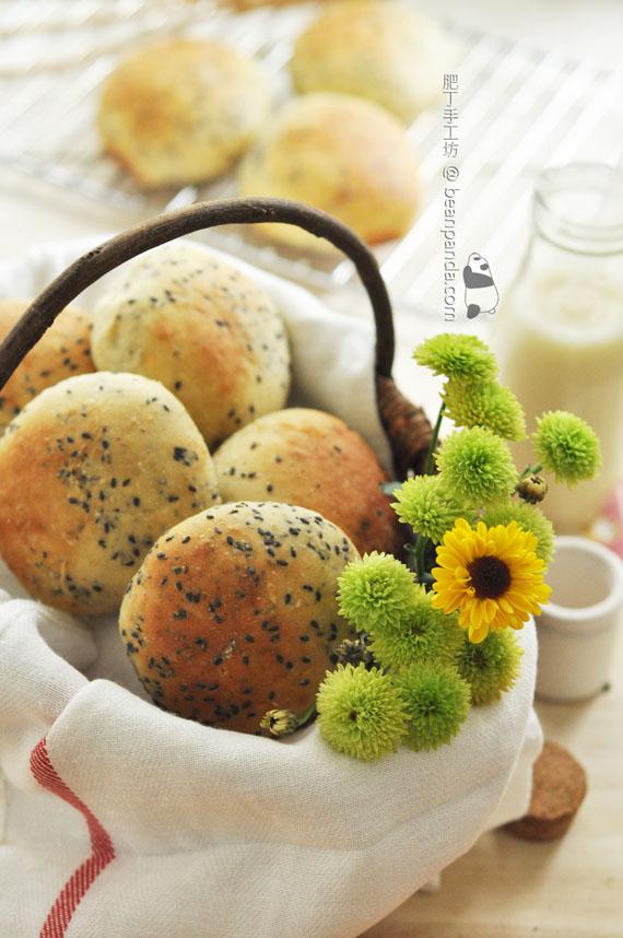 豆香芝麻麵包【豆渣大變身 / 無牛油】Bean Dregs Sesame Bread