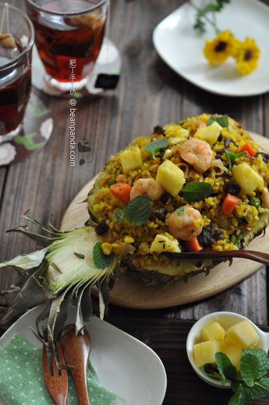 原隻菠蘿炒飯【華麗水果入饌】Pineapple Fried Rice