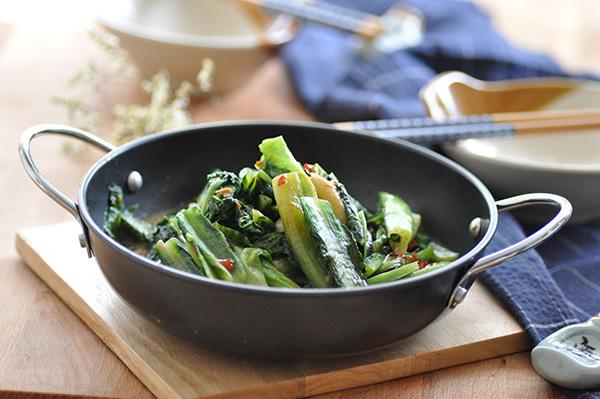 味噌辣豆瓣醬炒油麥菜【脆爽不膩】Stir Fried Indian Lettuce