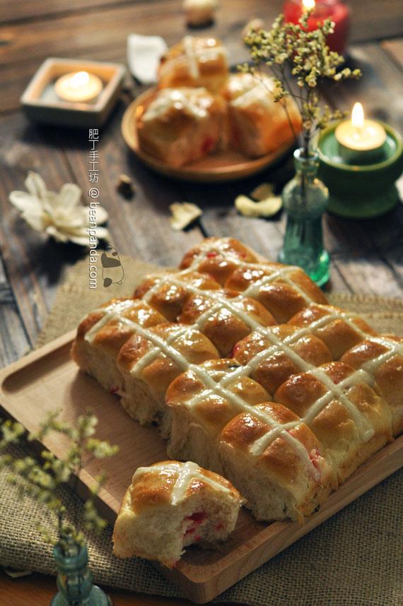 十字包【復活節甜麵包 / 低脂輕怡版】Hot Cross Buns