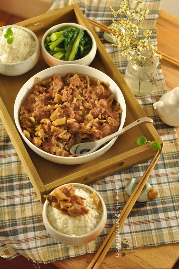 梅菜蒸肉餅【廣東小菜經典】Steamed Minced Pork with Preserved Vegetable