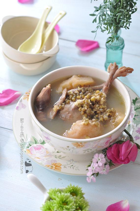 綠豆蘋果乳鴿湯【夏天去痘良品】Green Bean Squabs Soup