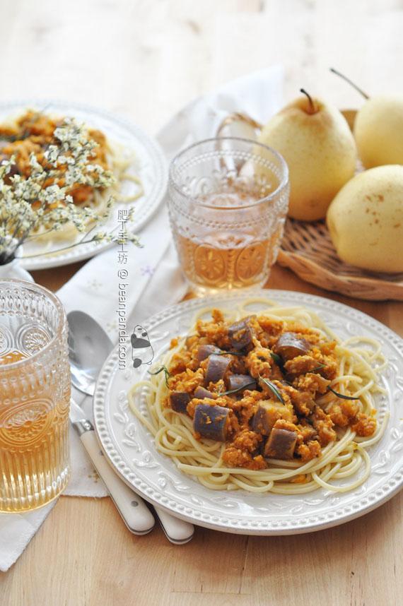 茄子肉醬意粉【有營午餐】Spaghetti With Meat Sauce