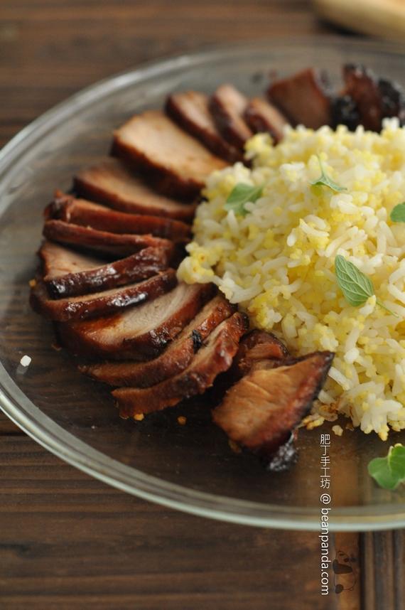 蜜汁叉燒 / 竹香小米飯【光波爐食譜】Honey BBQ Pork