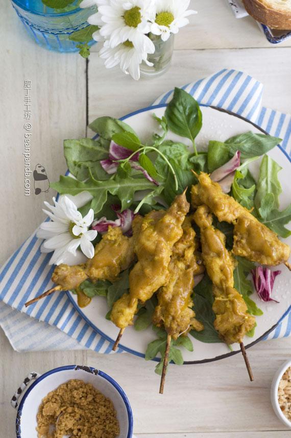 雞肉 / 豬肉沙爹串燒【自製沙爹醬】Chicken / Pork Satay
