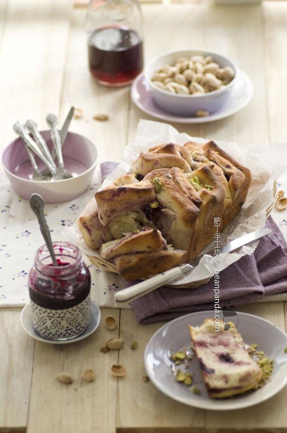 藍莓開心果夾心麵包【免揉麵包】Overnight Blueberry Loaf