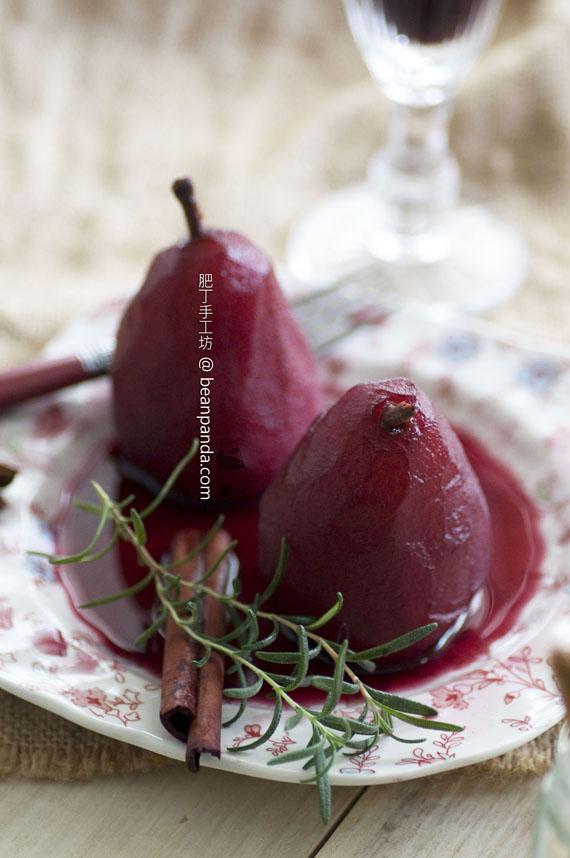 法式紅酒煮啤梨【醉翁之意不在酒】Pears Poached in Red Wine