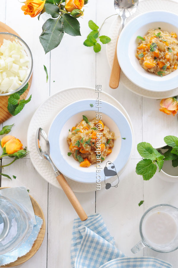 椰香南瓜意大利燉飯 (Risotto) ~ JA Rice 日本產米邀請食譜創作