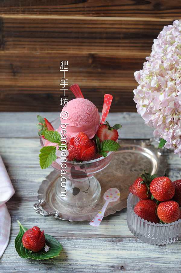 草莓「米」雪葩【無蛋奶冰品】Strawberry Rice Sorbet
