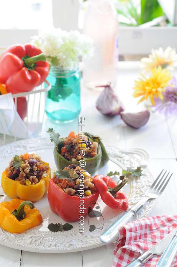 藜麥甜椒杯【秋日色彩】Quinoa Stuffed Bell Pepper