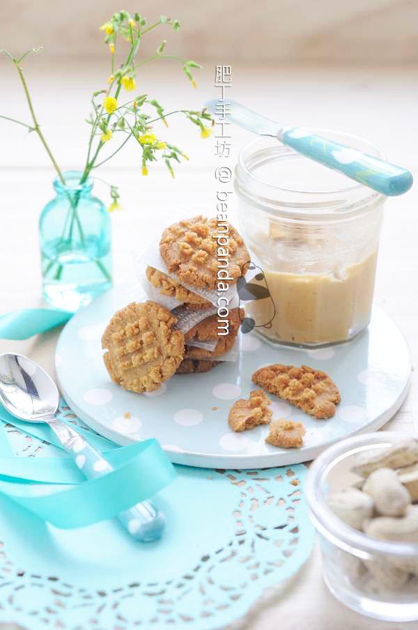 花生曲奇餅乾【無麵粉/奶油】Flourless Peanut Butter Cookies