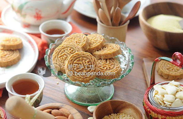 澳門杏仁餅【Coconut Matter 食譜邀稿】5 Ingredients Chinese Almond Biscuits