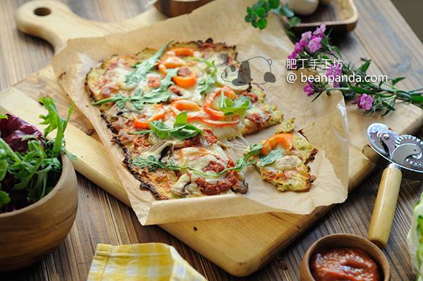 白花椰菜披薩 無麵粉 Cauliflower Pizza Crust