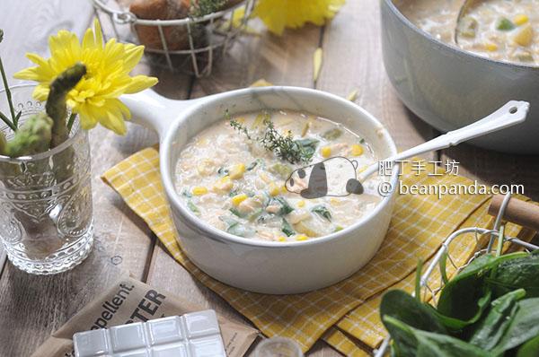 巧達濃湯【周打魚湯】Low-Cal Salmon Chowder Recipe