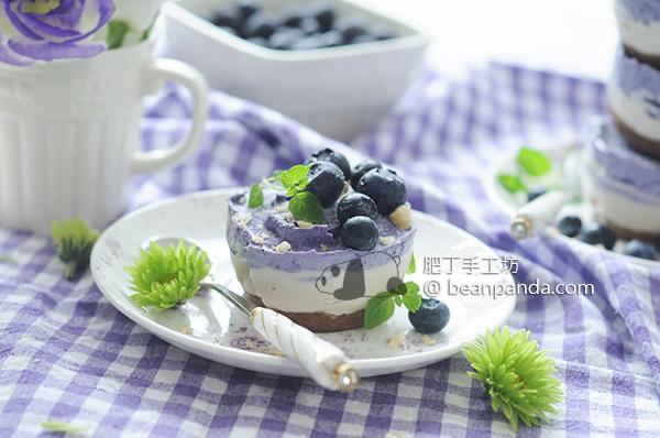 藍莓芝士(起司)蛋糕【免烤/無蛋奶素食可】Vegan Blueberry Cheesecake