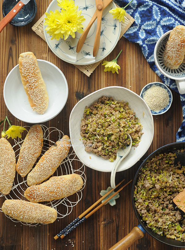 黃豆芽炒肉末【芝麻燒餅的最佳搭檔】Stir-fry Minced Pork with Soybean Sprouts