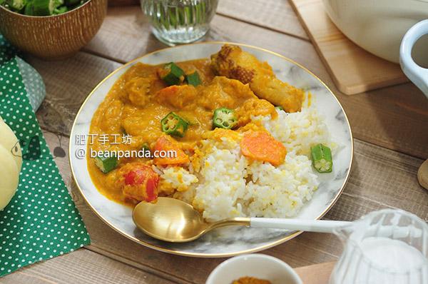 無水蔬菜雞肉咖喱【二種工具完成】Chicken Curry Cast Iron Pot