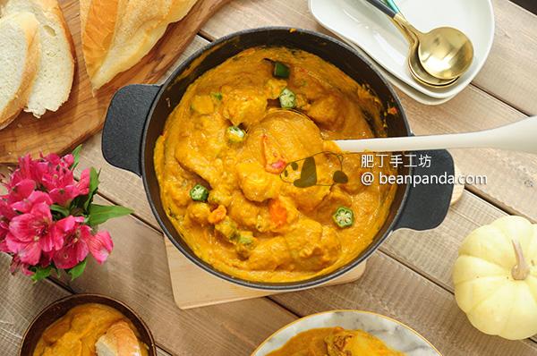 無水蔬菜雞肉咖喱【二種工具完成】Chicken Curry Cast Iron Pot Recipe