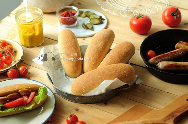 熱狗麵包 冰種法 做好幾天都鬆軟 Hot Dog Bun Recipe (Sponge Method)