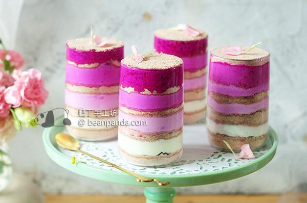 加拿大燕麥木糠布丁 低脂 療癒到無法自拔 Pink Pitaya Granola Greek Yogurt Serradura Pudding Recipe