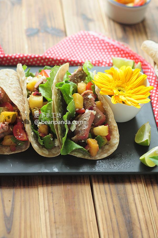 加拿大穀飼西冷牛排 Taco 吃過一次就回不去了 Sirloin Steak Taco with Pineapple Salsa Recipe