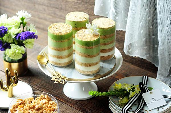 抹茶燕麥木糠布丁 低卡療癒小清新 Matcha Pantone Serradura Pudding (Sawdust Pudding)
